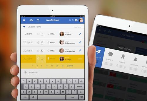 Live School iPad app by Rossul Design.